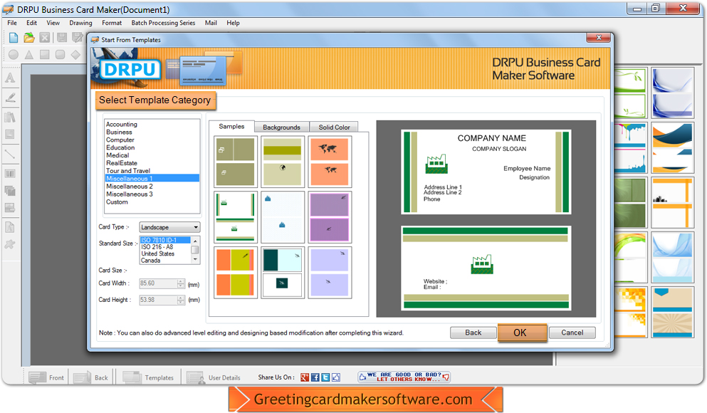 Business card maker software screenshots helps userb to design business card designing software reheart Choice Image