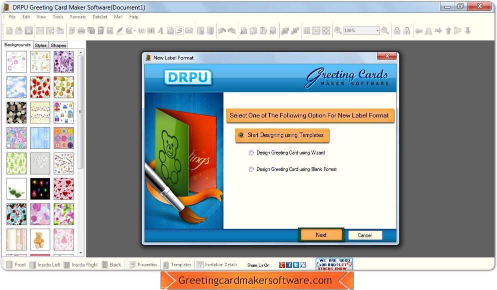 Greeting card maker software screenshots helps to design colorful greeting card maker software m4hsunfo